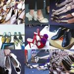 Los zapatos del Backstage en Jakarta Fashion Week