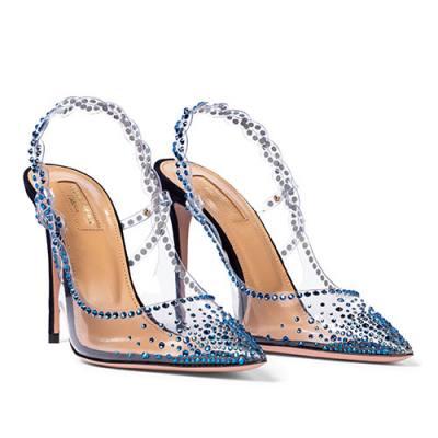 Zapatos de salón transparentes Heaven de Aquazzura