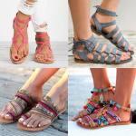 Sandalias planas para el verano