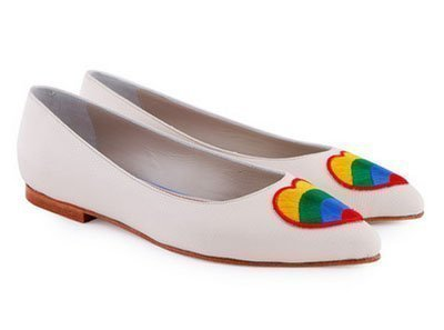 Ballerinas con corazón multicolor de Jackie Smith