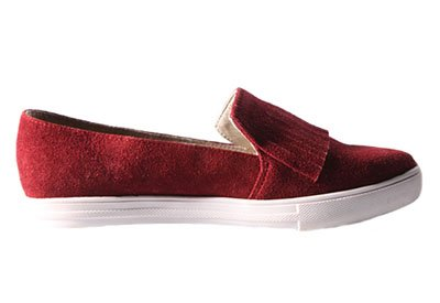 Zapatos FRINGE SLIP-ON VINO de Frida Peralta