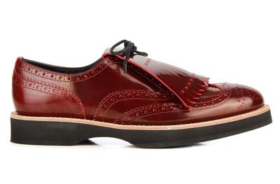 Zapatos THOSHI OXFORD BURDEOS de Ferrutx