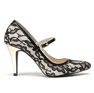 Flora Lace Pointed-toe Pumps de Summit