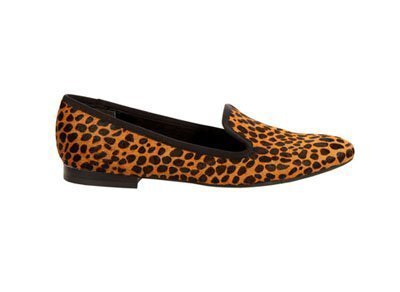 Ballerinas tipo slippers de piel animal print de Nine West